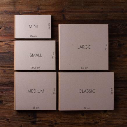 Rozmiary albumów klasycznych na miarę KAIKO