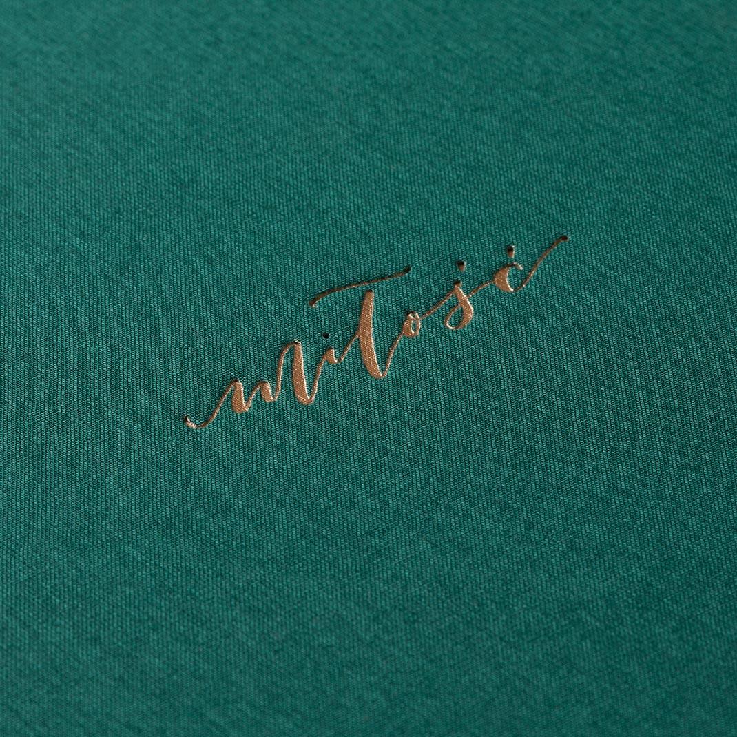 Album na zdjęcia MEDIUM BLACK40 morska zieleń miłość