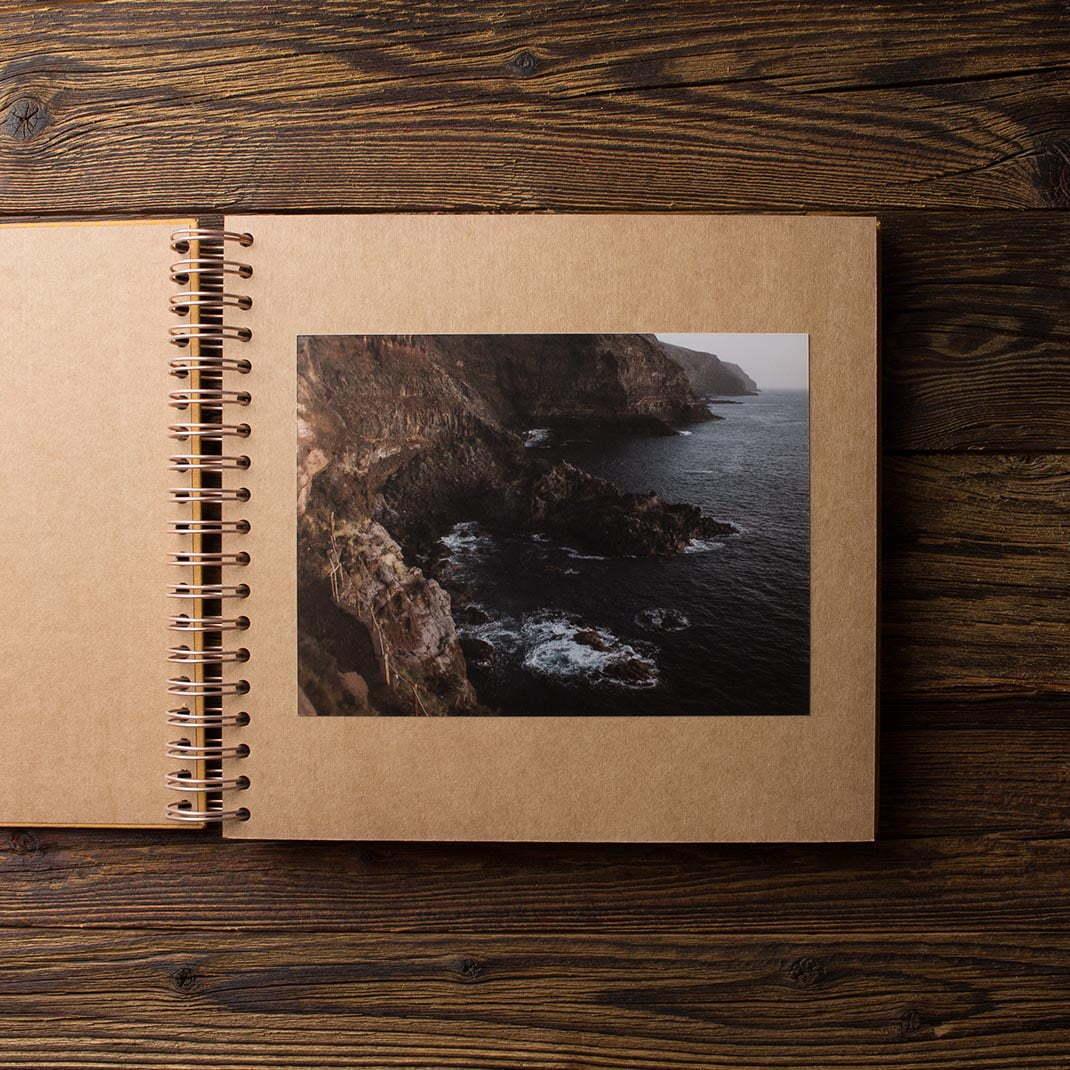 Album na zdjęcia MEDIUM KRAFT40 musztardowy moments