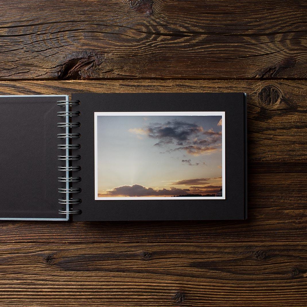 Album na zdjęcia MINI BLACK25 brudny błękit miłość