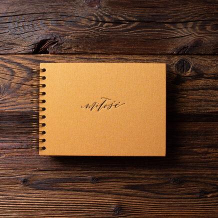 Album na zdjęcia MINI KRAFT25 musztardowy miłość