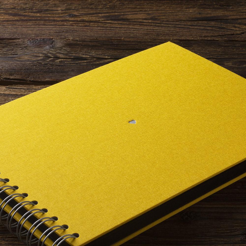 Album na zdjęcia SMALL BLACK30 żółty serce