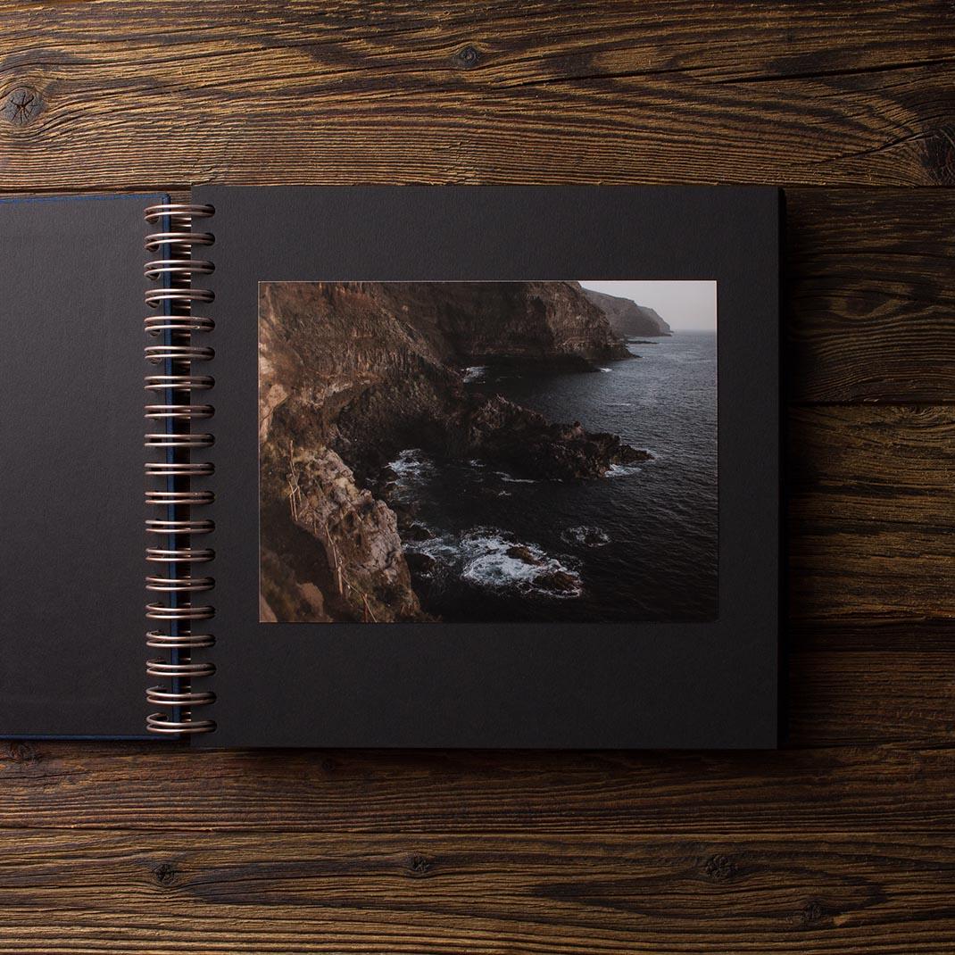 Album na zdjęcia MEDIUM BLACK40 granat serce