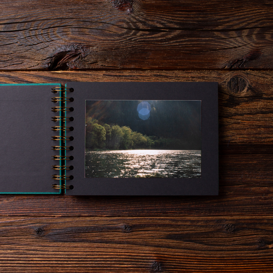 Album na zdjęcia MINI BLACK25 morska zieleń moments