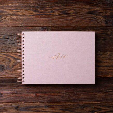 Album na zdjęcia SMALL BLACK30 brudny róż miłość